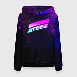 Толстовка-худи женская ATEEZ neon цвета 3D-черный — фото 1
