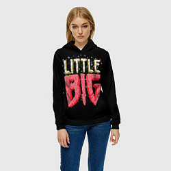 Толстовка-худи женская Little Big цвета 3D-черный — фото 2