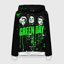 Толстовка-худи женская Green Day: Acid Colour цвета 3D-белый — фото 1