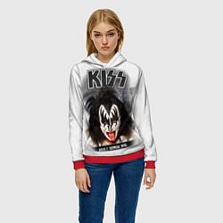 Толстовка-худи женская KISS: Adult demon wig цвета 3D-красный — фото 2