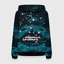 Толстовка-худи женская Chemical Brothers: Space цвета 3D-черный — фото 1