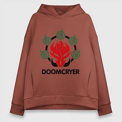 Толстовка оверсайз женская Orc Mage - Doomcryer цвета кирпичный — фото 1