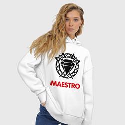 Толстовка оверсайз женская Dwarf Fighter - Maestro цвета белый — фото 2