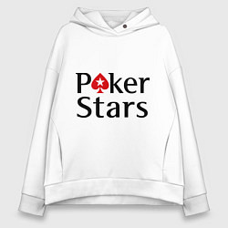 Толстовка оверсайз женская Poker Stars цвета белый — фото 1