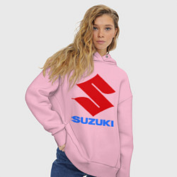Толстовка оверсайз женская Suzuki цвета светло-розовый — фото 2