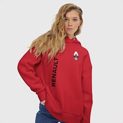 Толстовка оверсайз женская Renault Style цвета красный — фото 2
