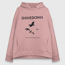 Толстовка оверсайз женская Shinedown: Sound of Madness цвета пыльно-розовый — фото 1