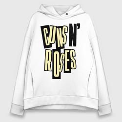 Толстовка оверсайз женская Guns n Roses: cream цвета белый — фото 1