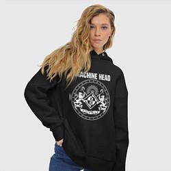 Толстовка оверсайз женская Machine Head MCMXCII цвета черный — фото 2