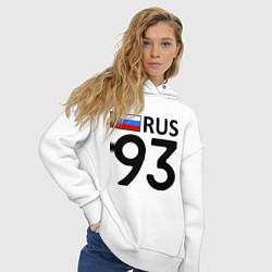 Толстовка оверсайз женская RUS 93 цвета белый — фото 2