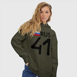 Толстовка оверсайз женская RUS 41 цвета хаки — фото 2