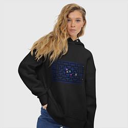 Толстовка оверсайз женская Pacman цвета черный — фото 2