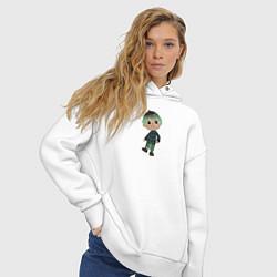 Толстовка оверсайз женская MARLOW CROSSING цвета белый — фото 2
