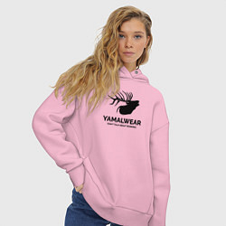 Толстовка оверсайз женская Yamalwear цвета светло-розовый — фото 2