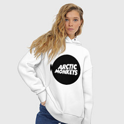 Толстовка оверсайз женская Arctic Monkeys Round цвета белый — фото 2