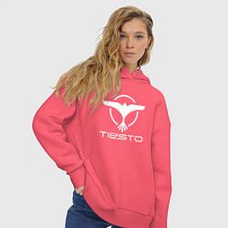 Толстовка оверсайз женская Tiesto цвета коралловый — фото 2