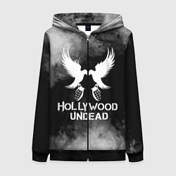 Толстовка на молнии женская Hollywood Undead цвета 3D-черный — фото 1