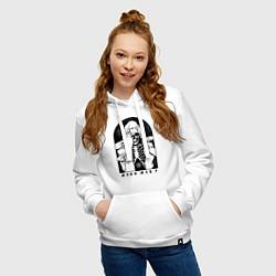 Толстовка-худи хлопковая женская Miss May I цвета белый — фото 2