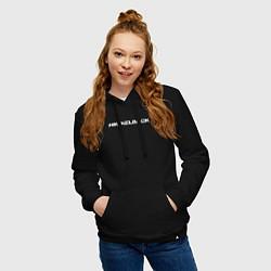 Толстовка-худи хлопковая женская Nickelback цвета черный — фото 2