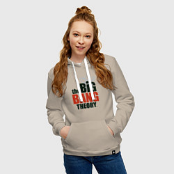 Толстовка-худи хлопковая женская Big Bang Theory logo цвета миндальный — фото 2