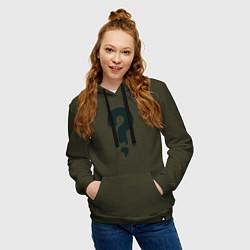 Толстовка-худи хлопковая женская Любимая футболка Зуса цвета хаки — фото 2