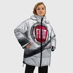 Женская зимняя 3D-куртка с капюшоном с принтом FIAT, цвет: 3D-черный, артикул: 10106631206071 — фото 2