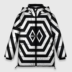 Куртка зимняя женская EXO Geometry цвета 3D-черный — фото 1