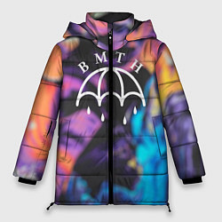 Женская зимняя 3D-куртка с капюшоном с принтом BMTH Rain, цвет: 3D-черный, артикул: 10107031406071 — фото 1