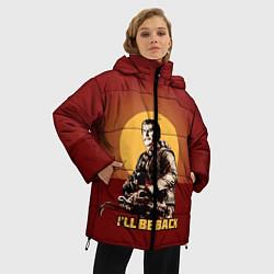 Женская зимняя 3D-куртка с капюшоном с принтом Stalin: Ill Be Back, цвет: 3D-черный, артикул: 10108286906071 — фото 2