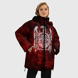 Женская зимняя 3D-куртка с капюшоном с принтом Slayer: Blooded Eagle, цвет: 3D-черный, артикул: 10109345006071 — фото 2