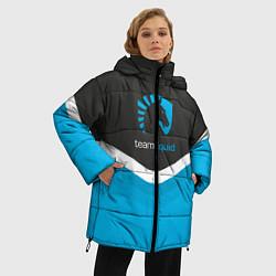 Женская зимняя 3D-куртка с капюшоном с принтом Team Liquid Uniform, цвет: 3D-черный, артикул: 10111391006071 — фото 2