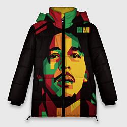 Куртка зимняя женская Боб Марли цвета 3D-черный — фото 1