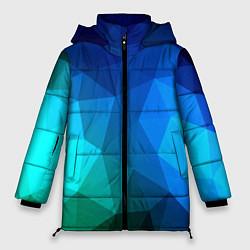 Куртка зимняя женская Fight Polygon цвета 3D-черный — фото 1