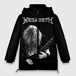 Женская зимняя 3D-куртка с капюшоном с принтом Dave Mustaine, цвет: 3D-черный, артикул: 10121348006071 — фото 1