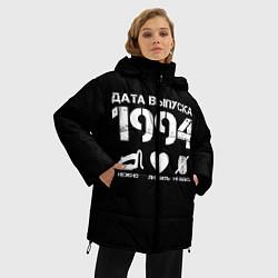 Женская зимняя 3D-куртка с капюшоном с принтом Дата выпуска 1994, цвет: 3D-черный, артикул: 10122750506071 — фото 2