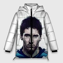 Женская зимняя 3D-куртка с капюшоном с принтом Лионель Месси, цвет: 3D-черный, артикул: 10125353606071 — фото 1