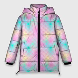 Куртка зимняя женская Розовая чешуя цвета 3D-черный — фото 1