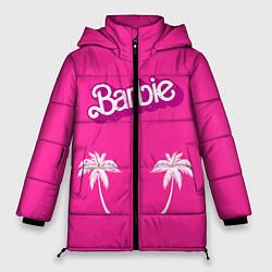 Куртка зимняя женская Barbie пальмы цвета 3D-черный — фото 1