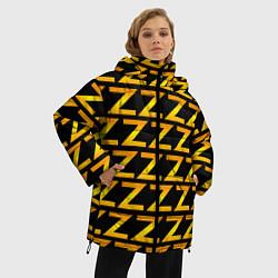 Женская зимняя 3D-куртка с капюшоном с принтом Brazzers Z, цвет: 3D-черный, артикул: 10133766306071 — фото 2