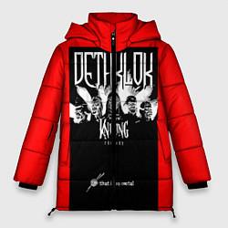 Женская зимняя 3D-куртка с капюшоном с принтом Dethklok: Knitting factory, цвет: 3D-черный, артикул: 10134389506071 — фото 1