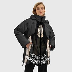 Женская зимняя 3D-куртка с капюшоном с принтом Dethklok Man, цвет: 3D-черный, артикул: 10134390706071 — фото 2