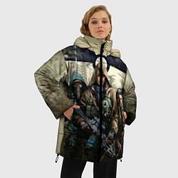 Женская зимняя 3D-куртка с капюшоном с принтом STALKER: Radioactive, цвет: 3D-черный, артикул: 10135204906071 — фото 2