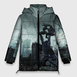 Женская зимняя 3D-куртка с капюшоном с принтом STALKER: Pripyat, цвет: 3D-черный, артикул: 10135205906071 — фото 1