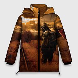 Женская зимняя 3D-куртка с капюшоном с принтом S.T.A.L.K.E.R: Older Soldier, цвет: 3D-черный, артикул: 10135206306071 — фото 1