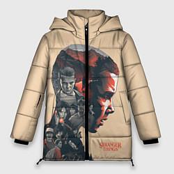 Женская зимняя 3D-куртка с капюшоном с принтом Stranger Things, цвет: 3D-черный, артикул: 10140032106071 — фото 1