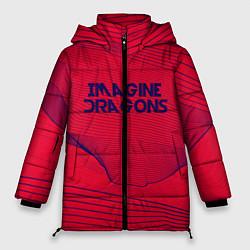 Женская зимняя 3D-куртка с капюшоном с принтом Imagine Dragons: Violet Stereo, цвет: 3D-черный, артикул: 10142143106071 — фото 1