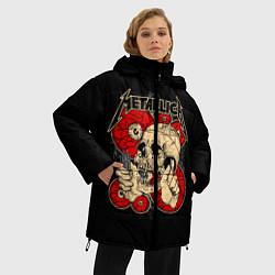 Куртка зимняя женская Metallica Skull - фото 2