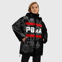 Куртка зимняя женская РВиА: герб РФ цвета 3D-черный — фото 2