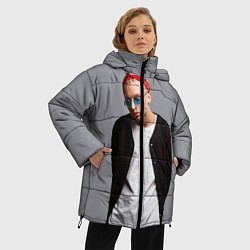Женская зимняя 3D-куртка с капюшоном с принтом T-Fest, цвет: 3D-черный, артикул: 10144503706071 — фото 2