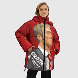 Женская зимняя 3D-куртка с капюшоном с принтом Grazie, цвет: 3D-черный, артикул: 10148325306071 — фото 2